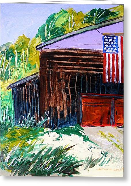 Flag Day Drawings Greeting Cards - History and Glory Greeting Card by John  Williams