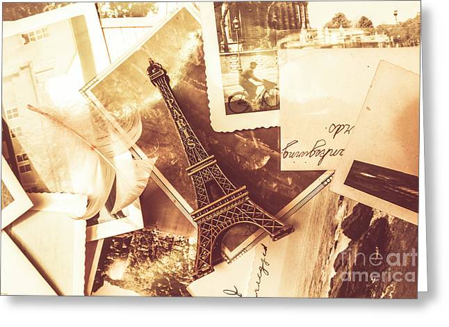 History And Sentiment Of Vintage Paris Greeting Card
