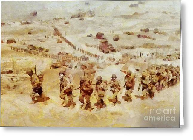 History In Color. D Day, Omaha Beach, Wwii Greeting Card