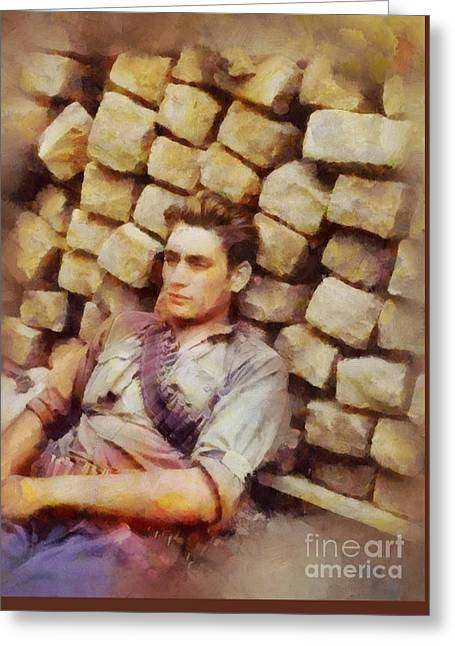 History In Color. French Resistance Fighter, Wwii Greeting Card by Sarah Kirk