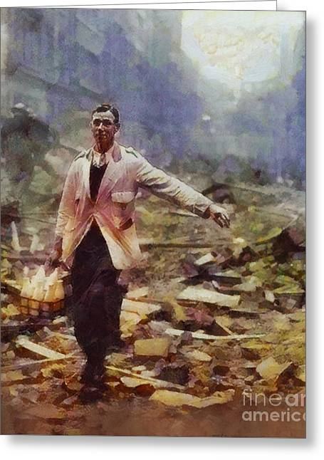 History In Color. Spirit Of The Blitz, Wwii Greeting Card by Sarah Kirk