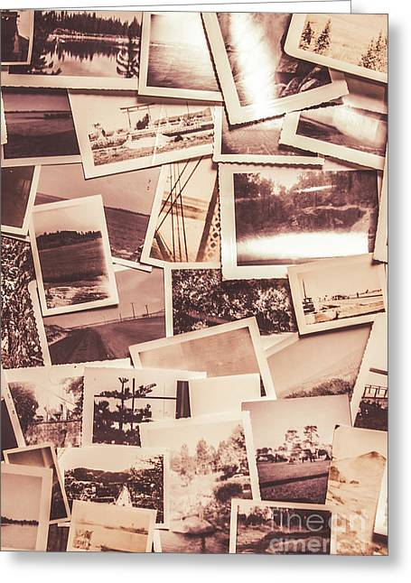 History In Still Photographs Greeting Card