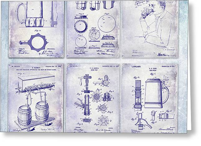 History Of Beer Patents Blueprint Greeting Card