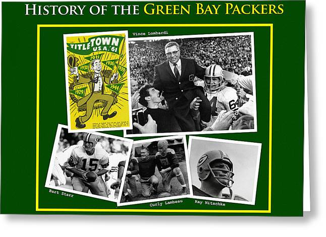 History Of The Packers Number 1 Greeting Card by Big 88 Artworks