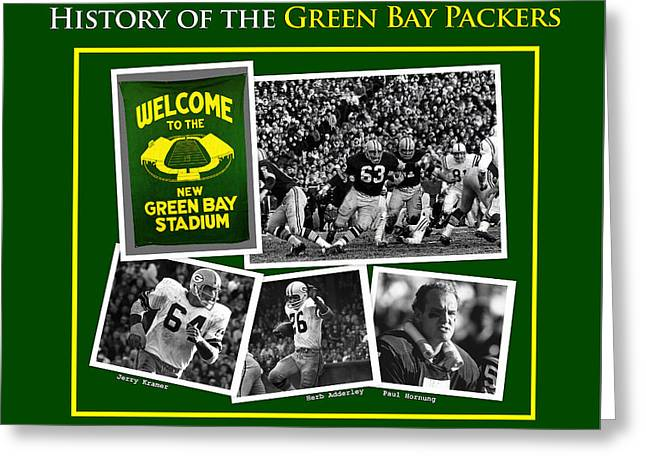 History Of The Packers Number 4 Greeting Card by John Farr