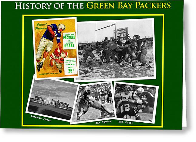 History Of The Packers Number Two Greeting Card by Big 88 Artworks