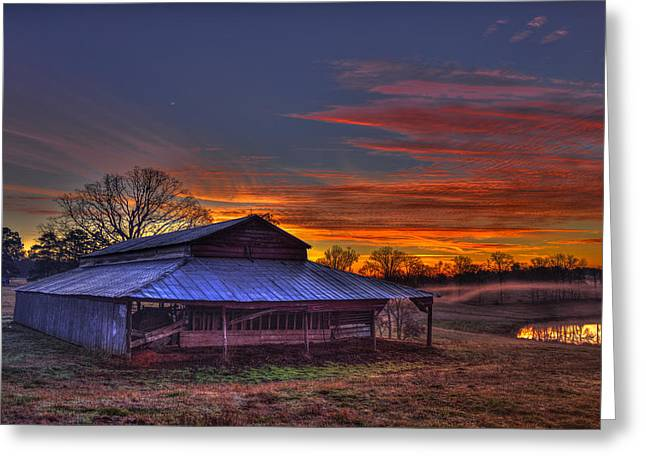 His Works Sunrise Greeting Card by Reid Callaway