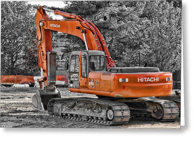 Hitachi Zaxis 270 Greeting Card by Richard Bean