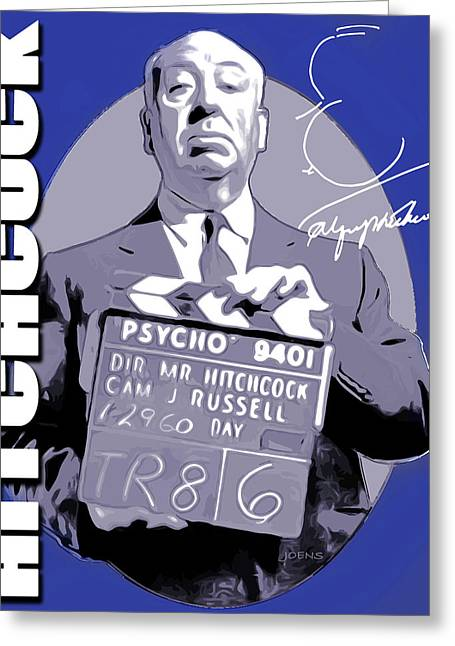 Hitchcock Greeting Card by Greg Joens