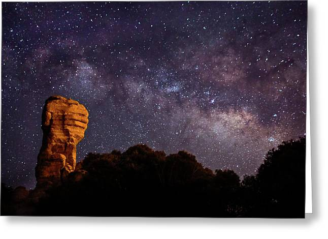 Hitchcock Pinnacle Nightscape -- Milky Way Greeting Card