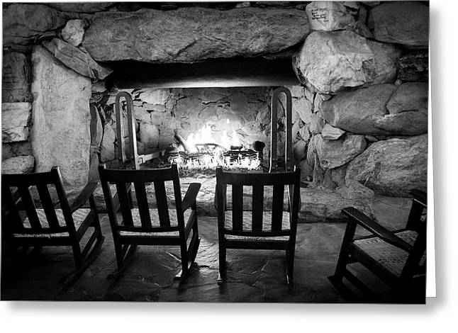 Greeting Card featuring the photograph Winter Warmth In Black And White by Karen Wiles