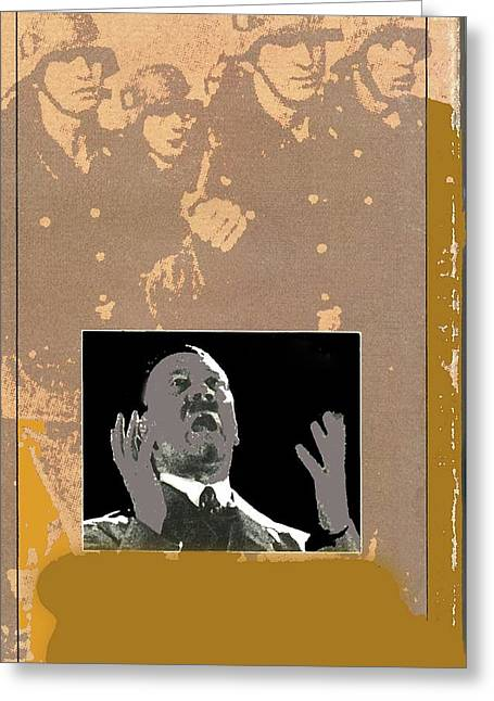 Hitler Giving Impassioned Speech Circa 1934 Color Added 2016 Greeting Card by David Lee Guss