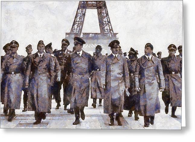Hitler In Paris Greeting Card