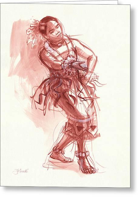 Hiva, Dancer Of Tonga Greeting Card