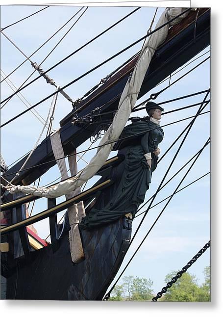 Hms Bounty Ship Figurehead Greeting Card