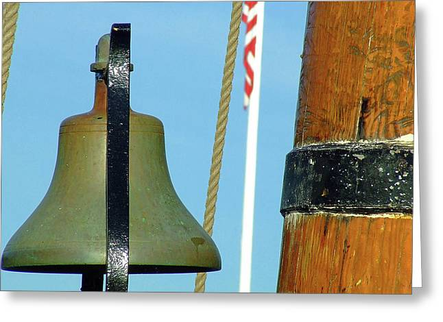 Hms Bounty Ships Bell Greeting Card