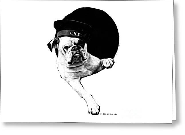 Hms Bulldog Greeting Card by Edward Fielding