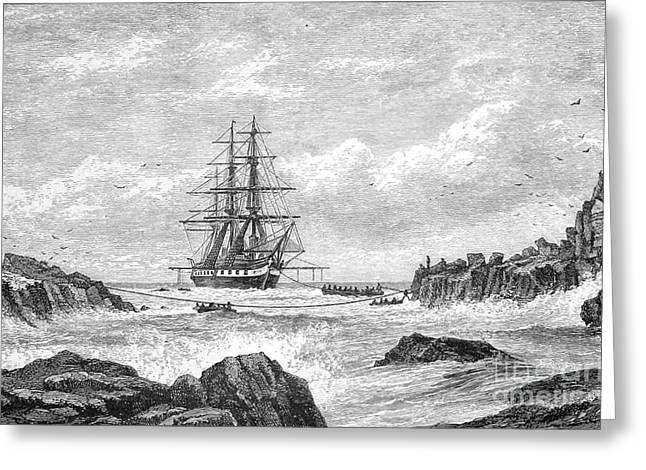 Hms Challenger Expedition 1872-76 Greeting Card by Science Source