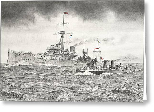 Hms Dreadnought Greeting Card
