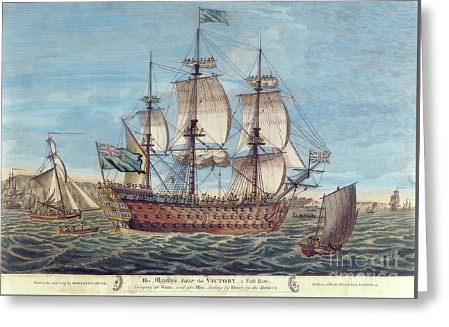 Hms Victory Greeting Card