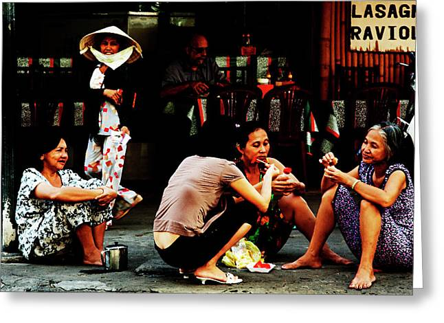 Ho Chi Minh. The Luncheon On The Asphalt Greeting Card by Alex Volgin