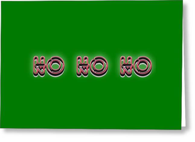 Ho Ho Ho Christmas Tee Greeting Card