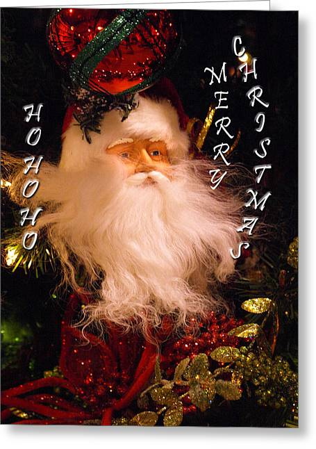 Ho Ho Ho Greeting Card by Kim