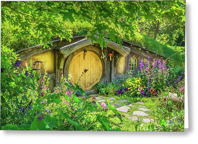 Hobbit Cottage Greeting Card