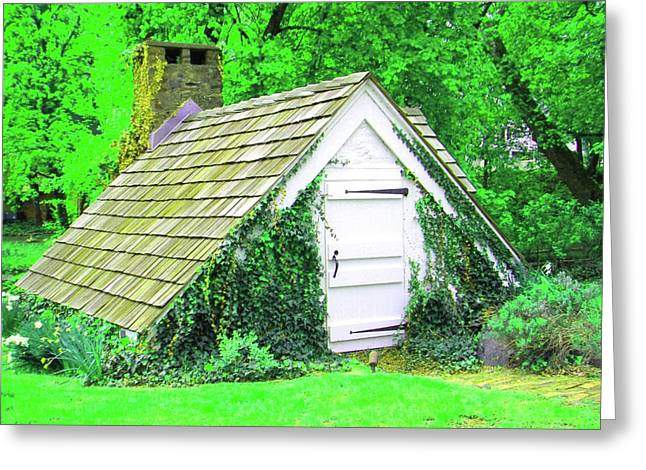 Greeting Card featuring the photograph Hobbit Hut by Susan Carella