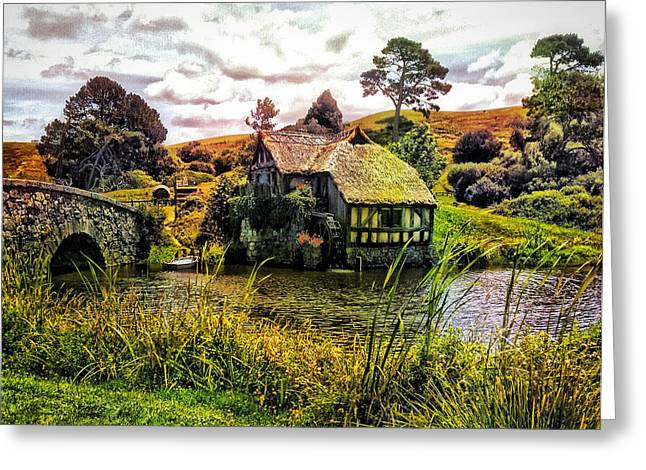 Hobbiton Mill And Bridge Greeting Card