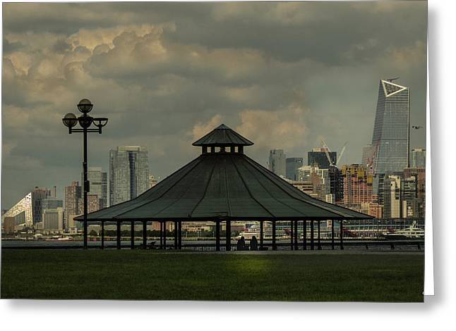 Hoboken, Nj -pier A Park Gazebo Greeting Card