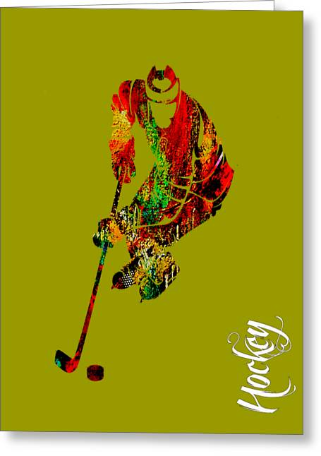 Hockey Collection Greeting Card by Marvin Blaine