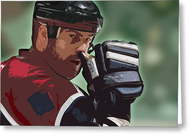 Hockey Illustration Greeting Card by Lucas Armstrong