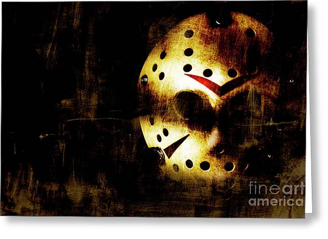 Hockey Mask Horror Greeting Card by Jorgo Photography - Wall Art Gallery