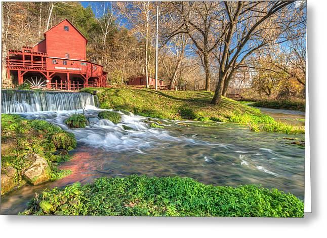Hodgson Mill Landscape - Missouri Greeting Card by Gregory Ballos