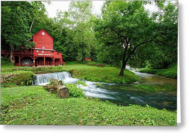 Hodgson Water Mill And Spring Greeting Card