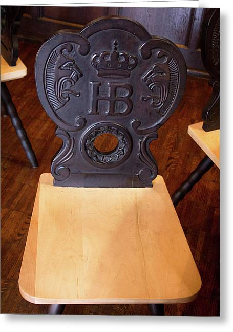 Hofbrauhaus Chair Greeting Card
