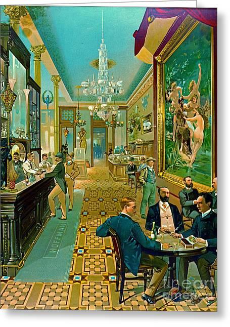Hoffman House Bar 1890 Greeting Card by Padre Art