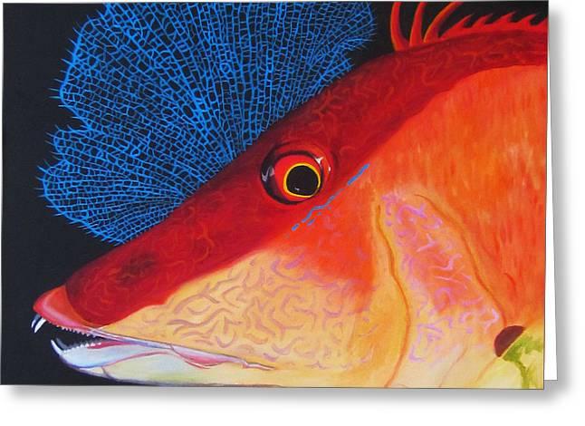 Hog Fish Greeting Card by Anne Marie Brown
