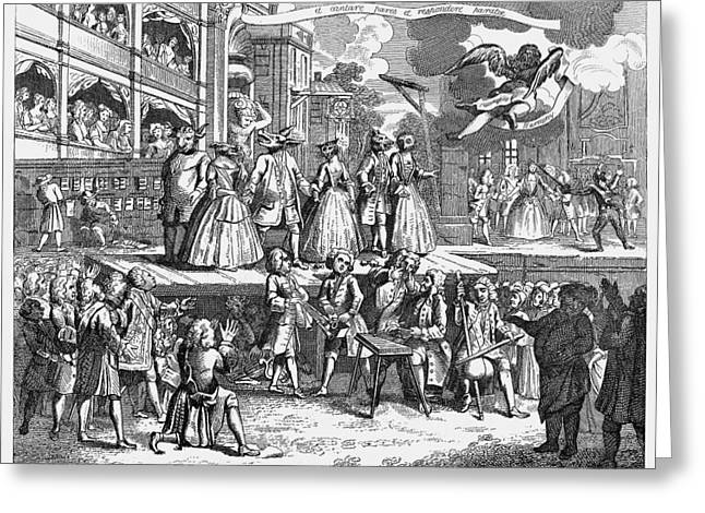 Hogarth Greeting Cards - Hogarth: Beggars Opera Greeting Card by Granger