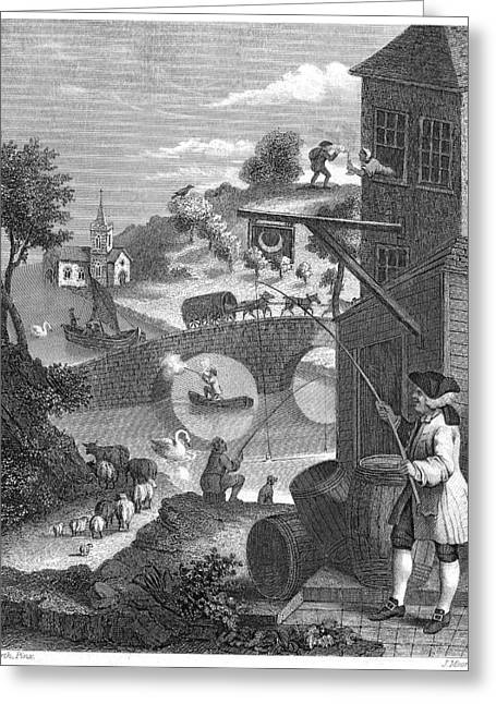 Hogarth: False Perspective Greeting Card by Granger