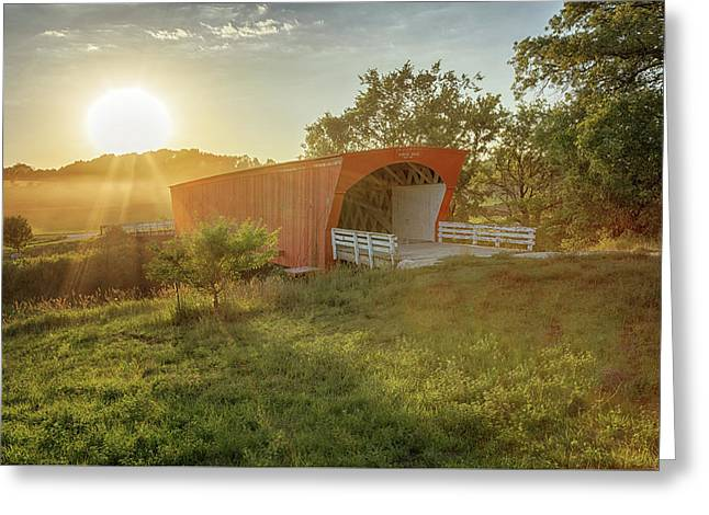 Greeting Card featuring the photograph Hogback Covered Bridge 2 by Susan Rissi Tregoning