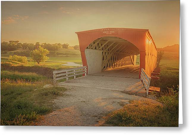 Greeting Card featuring the photograph Hogback Covered Bridge by Susan Rissi Tregoning