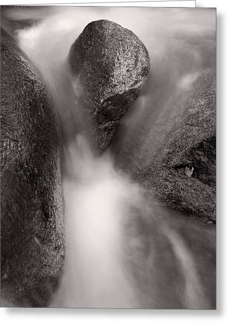 Hogback Creek And Granite Inyo Natl Forest Bw Greeting Card