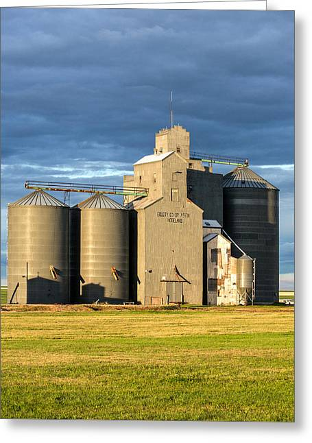 Hogeland Grain Elevator Greeting Card