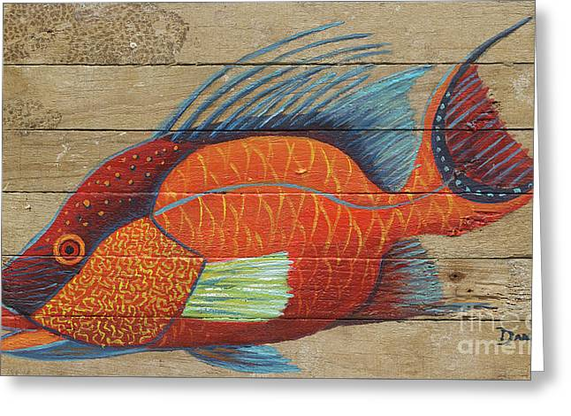 Hogfish Greeting Card by Danielle Perry