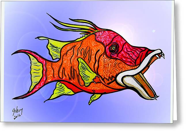 Hogfish Greeting Card