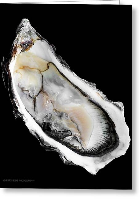 Oyster On Half-shell Greeting Cards - Hogs4-001 Greeting Card by Andy Frasheski