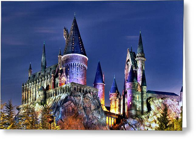 Hogwarts Greeting Card by Danny Price