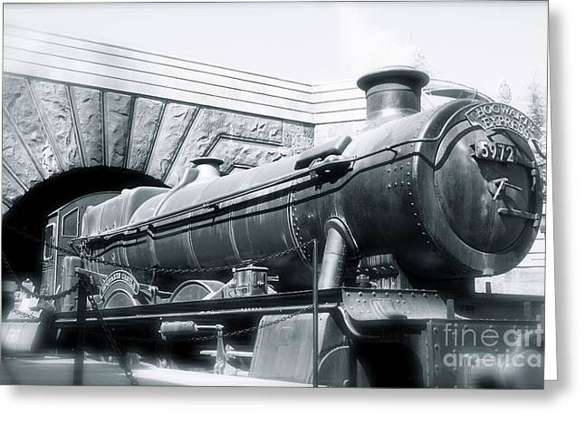 Hogwarts Express Black And White Greeting Card